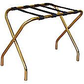 Harbour Housewares Folding Metal Luggage Rack - Gold
