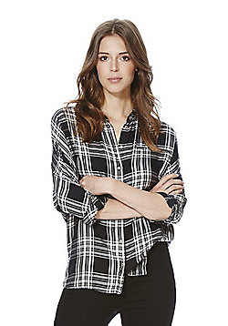 Only Checked Shirt - Black
