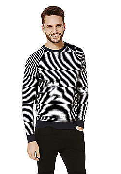 F&F Striped Jumper with Linen - Navy