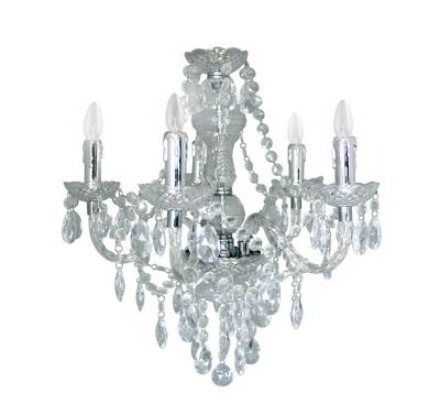 Clear Electric Five Light Princess Pendant Traditional Ceiling Decor