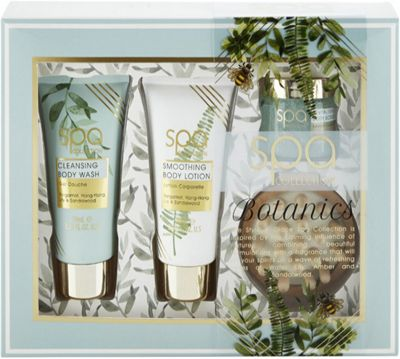 Style & Grace Spa Collection Back To Nature Gift Set 70ml Body Wash + 70ml Body Lotion + 50ml Body Scrub + Body Massager