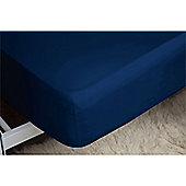 Belledorm 200 Thread Count Polycotton Fitted Sheet - Navy