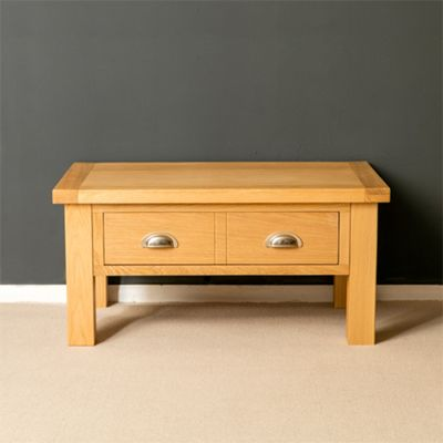 Truro Oak Coffee Table with Drawer