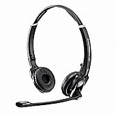 Sennheiser DW 30 Wireless DECT Stereo Headset - Over-the-head - Semi-open - Black