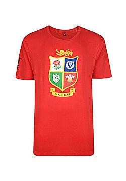 British & Irish Lions Kids Logo T-shirt - Red - Red