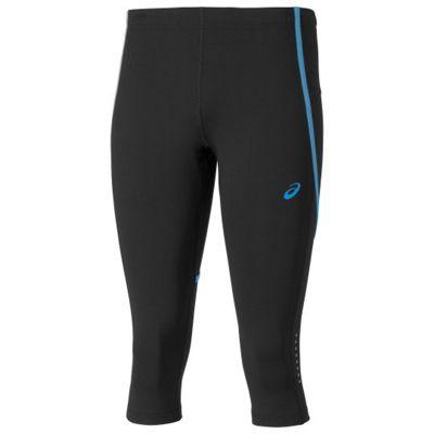Asics Adrenaline Womens Ladies Running Knee Tight Black/ Blue, UK 16