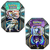 Pokemon TCG: Legends of Alola Tin Salgaleo & Lunala Tin Combo