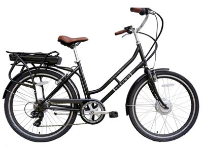 Viking Downtown 36V 26 Inch Wheel Black Electric Bike