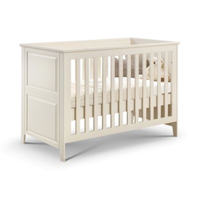 Classic Stone White Wooden Cotbed 2 in 1 Toddler Bed (Converts into a child bed)