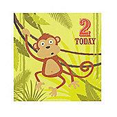 Jungle Friends Boys 2nd Birthday Card