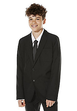 F&F School Boys Soft Touch Blazer - Black
