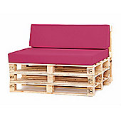Water Resistant Pallet Small Back Cushion - Cerise