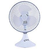 """Tesco DF918W 9"""" Desk Fan White"""