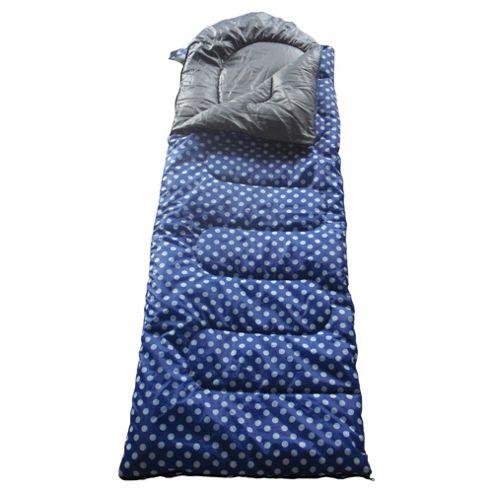 Tesco Festival Sleeping Bag, Polka Dot