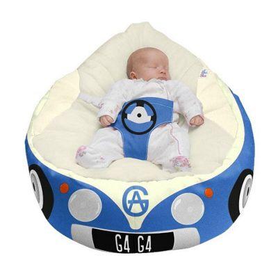 Gaga Luxury Cuddlesoft Baby Bean Bag - Iconic Campervan Blue