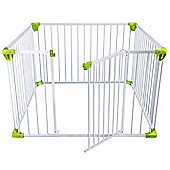 Safetots Simply Safe Playpen White with Lime