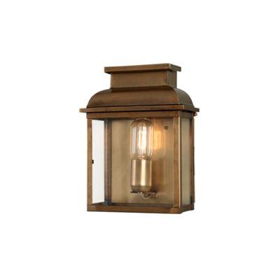 Antique Brass Wall Lantern Brass - 1 x 100W E27