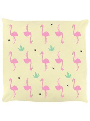 Flamingo Frenzy Cushion 40 x 40cm Cream
