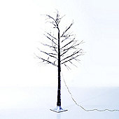 Homcom Waterproof Light Up Snow Covered LED Lighted Tree Pre-lit Christmas Home Décor (2.1m)