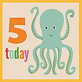 5th Birthday Octopus Card