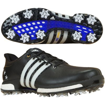 adidas Mens Tour360 Boost Special Edition Cleated Golf Shoes With Bag UK 8.5