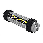 Corsair CMFSV3B-32GB Flash Survivor Stealth 200 m 32 GB USB 3 Rugged Design Water Proof Flash Drive - Silver