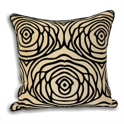 Riva Home Opera Black & Ivory Cushion Cover - 55x55cm