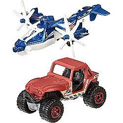 Matchbox Jurassic World Land and Air Vehicle 2 Pack - Sky Safari & M8X 4x4