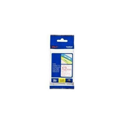 Brother TZE132 Label Tape - 12 mm Width x 8 m Length - 1 Roll (Rectangle - Thermal Transfer - Clear)