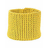 Homescapes Basket - Knitted - Yellow - 42 x 37 cm