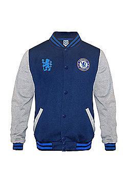 Chelsea FC Boys Varsity Jacket - Blue