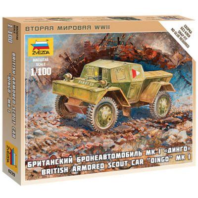 Zvezda 6229 British Armored Scout Car Dingo Mk1 1:100 Snap Fit Model Kit