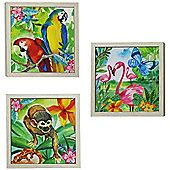 Jungle Mania Framed Canvas Art - Set of 3
