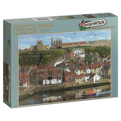Falcon de luxe Around Britain Whitby Harbour Jigsaw Puzzle (1000-Piece)