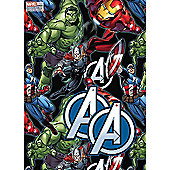 Marvel Avengers 2 Wrapping Paper Sheets & 2 Gift Tags Pack