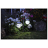 Smart Solar 2 Hanging Crackle Globe Lights with Hook