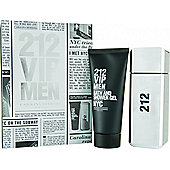 Carolina Herrera 212 VIP Men Gift Set 100ml EDT + 100ml B/S Gel For Men