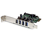 4 Port Pci Express Pcie Superspeed Usb 3.0 Controller Card Adapter With Sata Power - Low Profile - Components