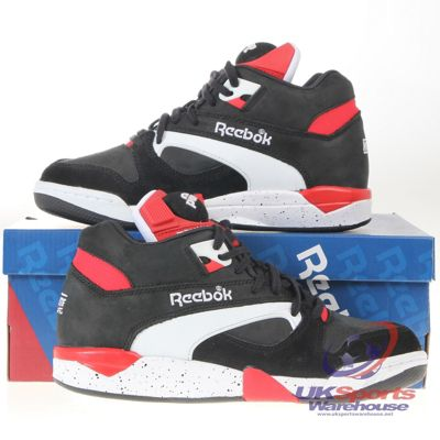 ab11c7b0e8e5be Reebok Court Victory Pump Retro Tennis   Basketball Trainers Sneakers - Red  Catalogue Number  372-6491