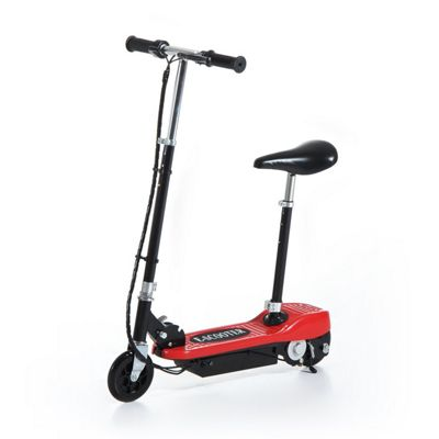 Homcom Kids Foldable E-Scooter Adjustable Ride on 2 x 12V Rechargeable Battery (Red)