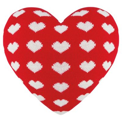 Buy Heart Shaped Knitted Cushion Red From Our Cushions Range Tesco