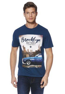 F&F Brooklyn Motors Graphic T-Shirt Blue M