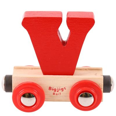 Bigjigs Rail Rail Name Letter V (Red)