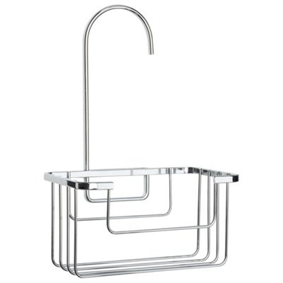Buy Croydex Chrome Shower Riser Rail Hook Over Caddy From