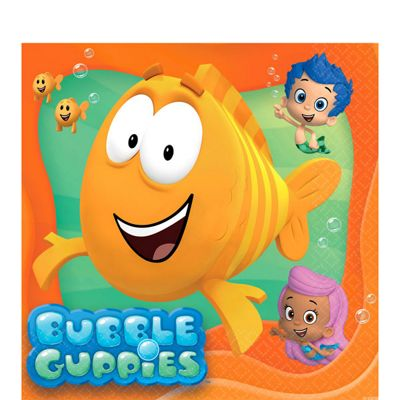 Bubble Guppies Napkins - 2ply Paper - 16 Pack