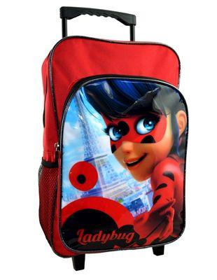 Miraculous 'Ladybug' School Travel Trolley Roller Wheeled Bag