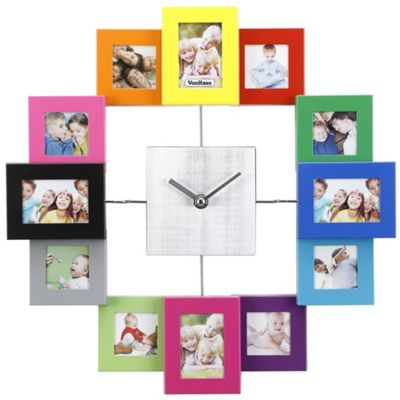 Buy VonHaus Multi Coloured Photo Frame Clock from our All Frames ...