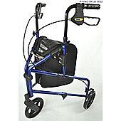 Compact Aluminium Tri Wheel - Blue