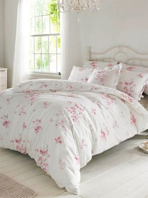 Holly Willoughby Olivia Raspberry Double Duvet Cover