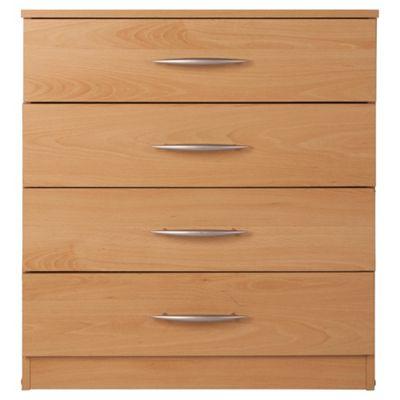 Ashton Beech Chest of Drawers, 4 Drawer